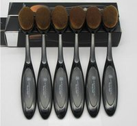black powder - New Anastasia Oval Make up brush Cosmetic Foundation Cream Powder Blush Oval Anastasia Toothbrush BB Cream Powder Blush Makeup Tools