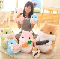 animal vole - New Creative Cute voles Plush Fat Hamster animal doll plush soft toy baby children Christmas gift