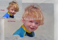 baby oil portrait - Custom portrait oil painting from photos hand painted Reproduction for baby family friend lover pets
