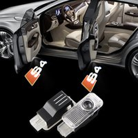 Wholesale Car Styling LED Projector Logo LED Car Door Welcome LightFor Audi A3 A4 A5 A6 A7 A8 R8 Q5 Q7 TT S line