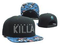 baseball cap brim - new KILLA cap flower brim baseball hats snapback caps for men women sports hip hop bones gorras brand sun hat Casquette cheap top quality
