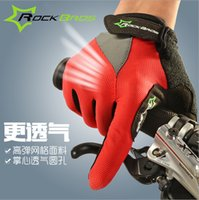 Wholesale RockBros Women s Mens Non Slip Breathable Winter Sports Wear Bike Bicycle Cycling Gel Pad Short Full Finger Gloves Luvas Color