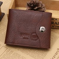 Wholesale wallet alarm Men s PU Leather Credit ID Card Holder Slim Purse men brand designer wallets carteira masculina B50