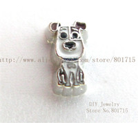 Wholesale Hot sale New arrival animal lovely Dog FC1498 floating locket charm p With Lowest Price for living memory locket as best gift