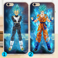 TPU anime case iphone - 2016 Anime Dragon Ball Super Saiyan Blue Goku Vegeta Soft Cover for iPhone S S SE C Plus Case