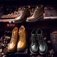Wholesale 2016 new winter Martin boots male high leather for shoes add flocking boots boots of England men s boots tooling short boots