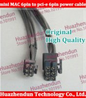 -Mac 50pcs Pro G5 mini-6pin au câble d'alimentation de la carte vidéo pcie 6pin 6 broches à 6 8800GT FX4600 broches X1900 HD5770