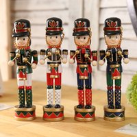 bear supply - 4 pc set Wood Nutcracker Soldiers CM Christmas Holiday Nutcracker Soldier Vintage Walnut Toy Christmas Decoration Supplies