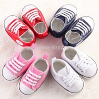 Wholesale Newborn Baby First Walkers Shoes Spring Autumn Boys Girls Kids Infant Toddler Classic Sports Sneakers Soft Soled Anti slip Shoes