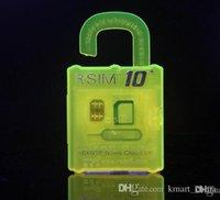 Wholesale unlock gsm phone R SIM RSIM rsim10 puls unlock card for iphone s plus s IOS7 X X AT T T mobile Sprint WCDMA