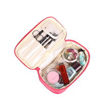 beauty jewelry storage - 7 Color Fashion Style Double Side Pouch Beauty Make Up Cosmetic Cases Jewelry Travel Storage Bag Cosmetic bag