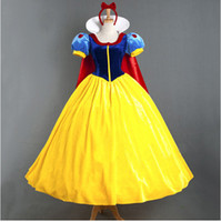 Wholesale Halloween adult snow white skirt stage cosplay chothes includig the cloak