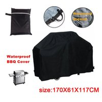 Wholesale DHL free Outdoor Waterproof Dustproof Barbeque Grill Cover Fits Most Brands Inch Black