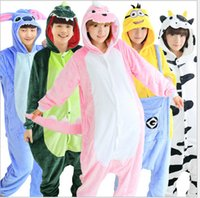 Wholesale 2016 New cosplay Kinds Hot Selling Style Pajamas Long Sleeved Cartoon High Quality Coral Velvet Dinosaur Tiger Pikachu Zebra