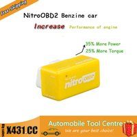 Wholesale DHL NitroOBD2 Performance chip tuning box for Benzine Cars Chip Tuning Box Plug Drive OBD2 More Power More Torque
