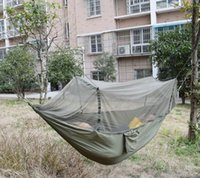 army camouflage bedding - DHL OR EMS Army Camouflage Hammock with Mosquito Net Parachute Nylon Camping Hammocks Strong Portable Outdoor Hanging Bed