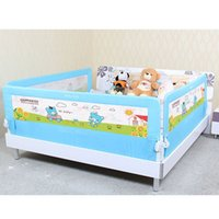 Wholesale DHL m Foldable Baby Bed Rail Fence Guardrail Baby Crib Guardrail Bed Rails Playpen General Baranda De Cama Bebe