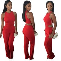 Wholesale Solid color sleeveless off the shoulder women two piece women jumpsuits outfits overalls
