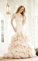 Wholesale High end foreign trade export customized pure manual nail bead new international big skirt pure yarn bride wedding dress