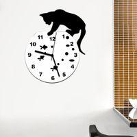 Wholesale 2016 hot sale acrylic mirror wall clock modern design clocks reloj de pared watch living room needle europe home vintage horloge TY1926