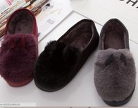 Wholesale The new autumn and winter home cotton slippers women Doudou cotton slippers warm thick cotton indoor and outdoor cotton trailer