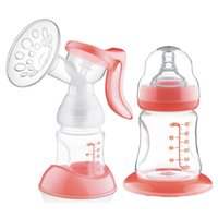 Wholesale Three Block Adjust Speed Squeezing Breast Pump With Nipple Suck Breast Milk Maternity Seins Baby Bottle Safety Good Feeds Strong