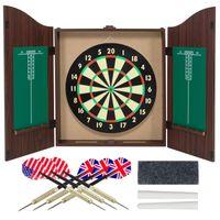 Wholesale Dartboard Cabinet Set with Realistic Walnut Finish