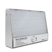 Cheap Outdoor Lighting 48LED Solar motion sensor Garden Pathway Wall Lamp LED Spotlight Solar Powered Panel Porch Light