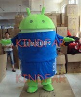 android outfit - Android Robot Mascot Costume Adult Halloween Fancy Dress Cartoon Party Outfits Suit