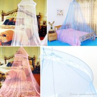 Wholesale 2016 retail Elegant Color Bed Mosquito Netting Mesh Canopy Princess Round Dome Bedding Net Mosquito Net