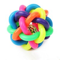 Wholesale 1 Colorful Ball Pet Toy Dog With Bell