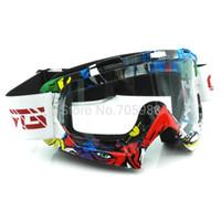 Cascos de carreras de la vendimia Baratos-Ktm ATV casco gafas Motocicleta Motocross Dirt Bike vintage moto gafas gafas de carreras Gafas transparentes Vidrio transparente