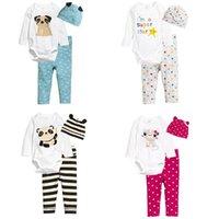 baby pants climbing - RMY26 NEW Design infant Kids animlas Print Cotton Cool long sleeve Romper baby Climb clothing boy girl Romper pant hat free ship