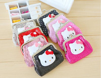 Wholesale Hello Kitty cartoon coin purse cute little wallet mini coin bag hasp bag a package of mail