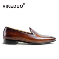 berluti shoes - VIKEDUO Newest Mens flat shoes Loafers shoes party laser printing shoes Genuine leather Shoes exclusive design Second To Berluti