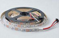 Wholesale LED Lighting LED Strip LED M roll WS2812B WS2812 Pixel m LED Strip SMD RGB WS2811 IC Non Waterproof V