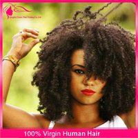 afro curly hair styles - New Arrival Mongolian Virgin Hair Afro Kinky Curly Full Lace Hair Wigs Glueless Fashion Style Lace Front Wigs For Black Woman