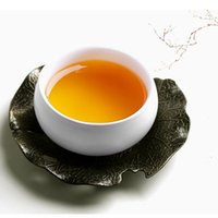 Wholesale New Chinese bronze Kung fu tea accessories Retro metal tin bronze cup mat cup tea saucer for