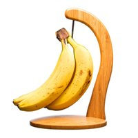 bamboo banana holder - Creative Bamboo Fruit Displaying Rack Banana Hanger Grape Holder Kitchen Storage Rack