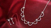Wholesale 2016 romantic wedding flower jewelry two piece necklace earrings