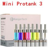 Wholesale Kanger mini protank atomizer with upgraded dual coils ml protank mini clearomizers vs aspire nautilus x