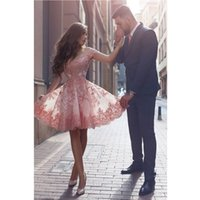 art important - Professional custom pink sleeveless round neckline lace applique skirt important occasions evening dress Fashion party prom dress