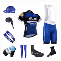 arm scarf - team Etixx Quick step cycling jerseys short sleeve bib sets arms gloves legs caps scarf Shoes covers cycling socks