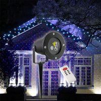 Wholesale Red Blue Elf Laser Projector Waterproof IP65 Outdoor Christmas Lighting With Remote Control Garden Landscape Sky lights