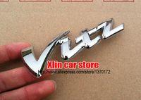 Wholesale 10pcs Chrome ABS Silver Toyota Vitz logo Car Sticker side Emblem Badge rear Decals