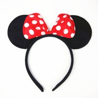 baby minnie mouse plush - Mickey Mouse Ear Headbands for Girls Hair Sticks Micker and Minnie Headbands for Hair Plush Baby Hair Accessories Headbands
