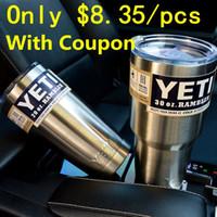 coupons - With Coupon YETI oz Cups Cooler YETI Rambler Tumbler Travel Vehicle Beer YETI Mug Tumblerful Bilayer Vacuum Insulated Stainless Steel