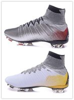 athletic line - Hot new men Mercurial Superfly CR7 Quinhentos FG Men s Soccer Shoes and Cleats High carbon fly line Sneakers Athletic Cheap Training S