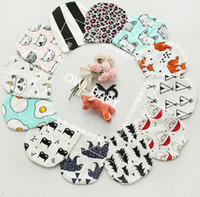 Wholesale 2016 Autumn Infant Baby Boys Girl Cartoon Animal Fox Caps Fashion INS Lovely Fox Tiger Panda Hats Soft Warm Caps Babies Cotton Hats