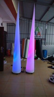 Wholesale inflatable tapered column for stage decoration with colorful changing lighting